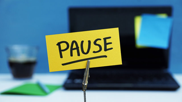 Pause written