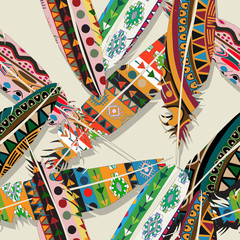 Ikat feather pattern 2