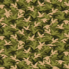Duck pattern for camouflage fabric in army colors