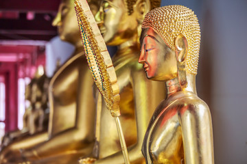 Golden buddha's image in a Thai temple