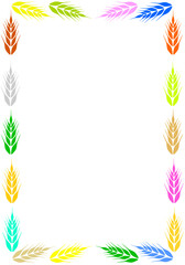 Colorful frame with ear of wheat