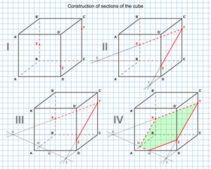vector drawing of a section of a cube