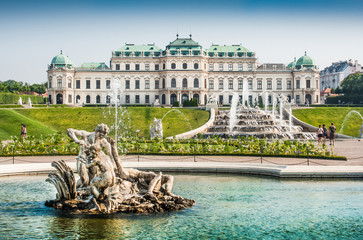 Photo sur Toile Vienne Famous Schloss Belvedere in Vienna, Austria