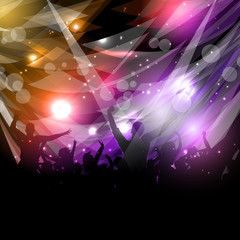 Party crowd background