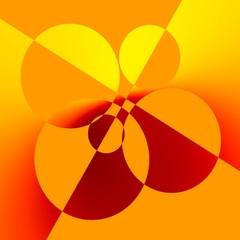 Orange Abstract Art Background Design - Creative