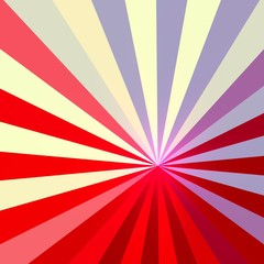 White Blue Red Abstract Rays Background - Stripes