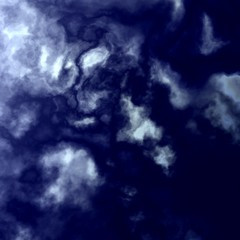 Dark Blue Sky - White Summer Clouds Background