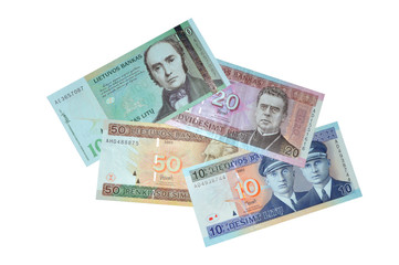 Lithuanian litu banknote collection