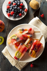 Healthy Whole Fruit Popsicles