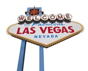 Aluminium Prints Las Vegas Las Vegas Sign Isolated