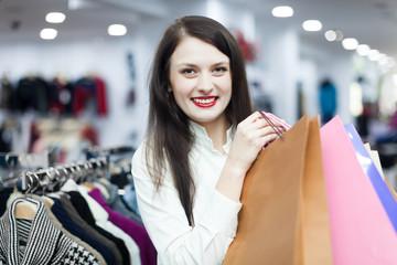 shopaholic at clothing shop