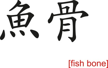 Chinese Sign for fish bone