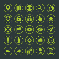 Web site icons set vector design elements for design
