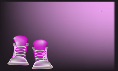 abstract shoes background
