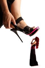 Frau und Schuhe