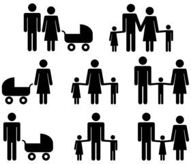 Strichmännchen Familie