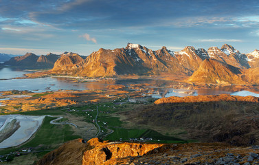 Wall Mural - Mountain norway landscape - Lofoten