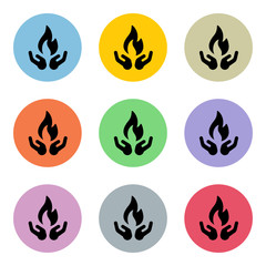 Flat Colorful Icon-Set