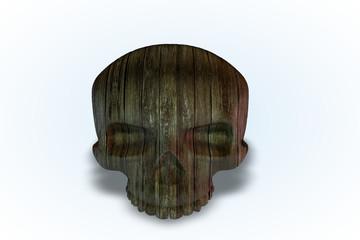 Damaged Wooden Skull Series II