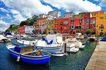 Photo sur Aluminium Bleu jean colorful Italy - Procida island