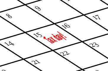 Calendar with Tax day