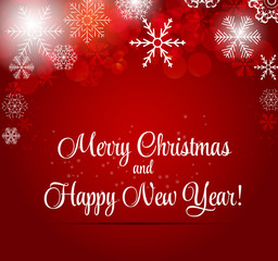 Happy New Year and Marry Christmas Background