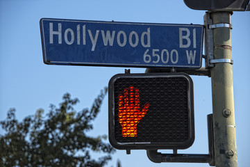 LA Hollywood Boulevard street sign