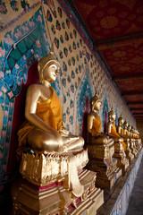 Vertical view of serene buddha statue