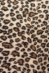 Leopard pattern fabric