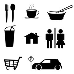 icon set for cafe .Vector illustration