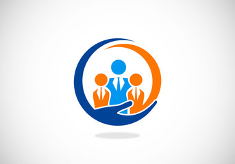 leadership business abstract vector logo