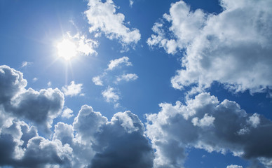 cloudy sky with directly sun