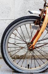 Old Bicycle Wheel - Stock Image