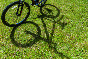 bicycle shadow.
