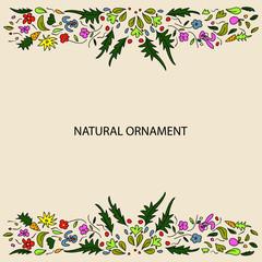 natural ornament card