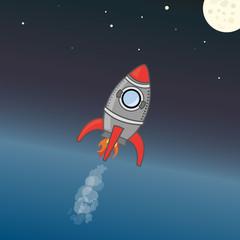 Rakete zum Mond