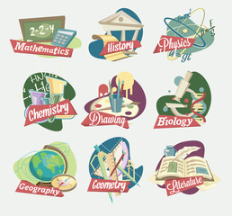 Emblems of school subjects