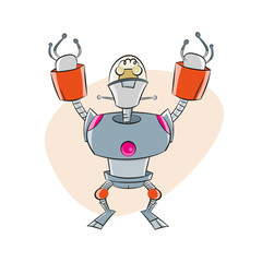roboter comic cartoon