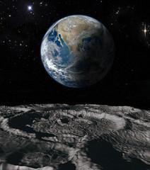 Wall Murals Nasa Earth and moon