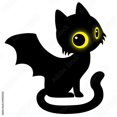 halloween schwarze katze mit fledermausfl geln isoliert stockfotos und lizenzfreie vektoren. Black Bedroom Furniture Sets. Home Design Ideas