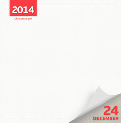 24 December - Christmas Eve day calendar page