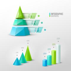 Set of vector design elements for infographic or presentation