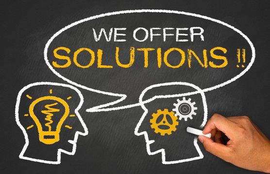 we offer solutions on chalkboard