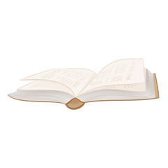 Book open hardcover vector illustration