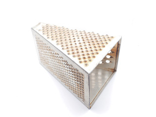 Metal grater on a white background