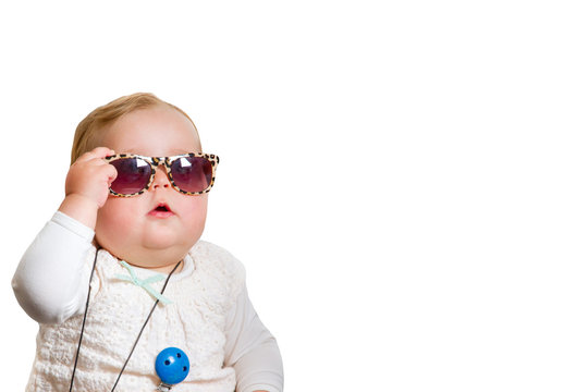 Funny baby with sunglasses