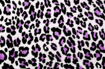 Purple black leopard pattern.Spotted fur animal print background