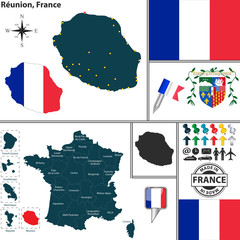 Map of Reunion, France
