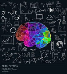 Vector of Brain  with many ideas