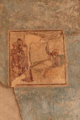 Bild mit Darstellung einer Szene im Theater - Pompeji